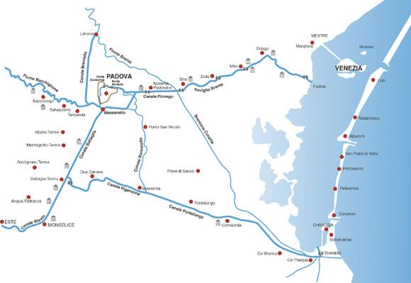 Percorsi navigazione turistica in Veneto